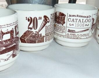 Sears advertising coffee mugs