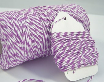 Bakers Twine - The Twinery - 100% Cotton  - Purple Lilac Twist - Your Choice of Amount
