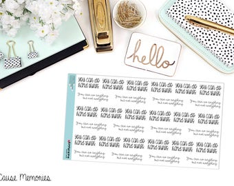 """MCM MANTRAS: """"You Can Do Hard Things"""" Paper Planner Stickers!"""