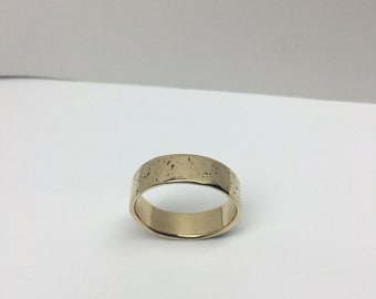 Of This Earth_ 14K Yellow Gold Earth Textured Wedding Band | Recycled Gold Wedding Bands | Simple Wedding Bands | Textured Wedding Bands