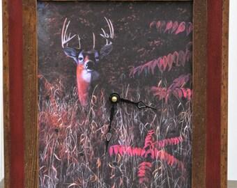 Framed Print Wall Clock--Keeping The Watch