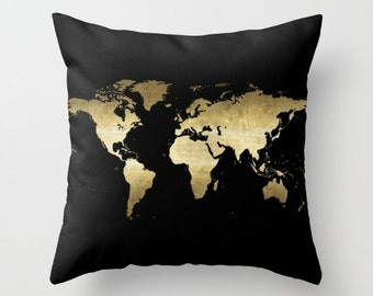 Continents pillow etsy gumiabroncs Choice Image