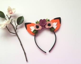 Fox Ears, Fox Headband, Woodland Headband