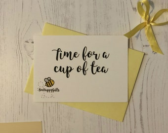BeeHappy Postcard - Time for Tea