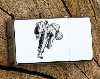 Karate Petrol Personalised Lighter Engraved Martial Arts Gift