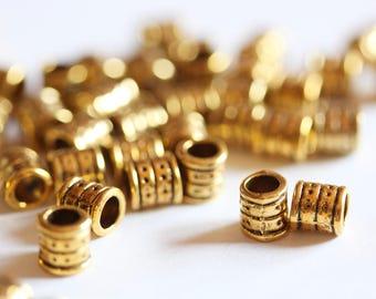Perle Charm metal cylinder tube