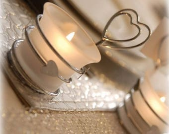 NEW - Brand Square candle holder heart 10 x 6 cm