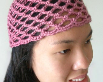 Lacy crochet hat etsy mesh lace beanie 5 sizes pdf crochet pattern instant download dt1010fo