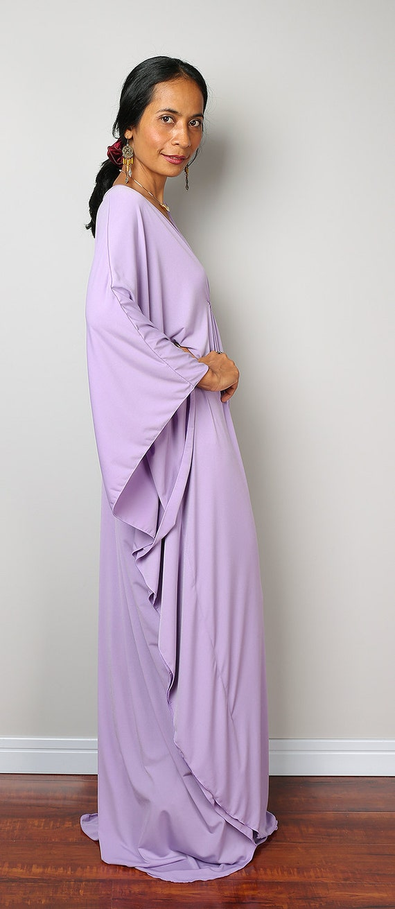 Lilas caftan violet clair Kimono papillon robe: Funky