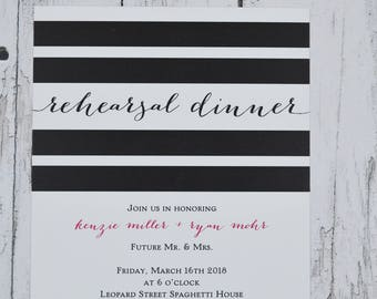 Rehearsal Dinner Invitation. Set start with 25 cards including envelopes!