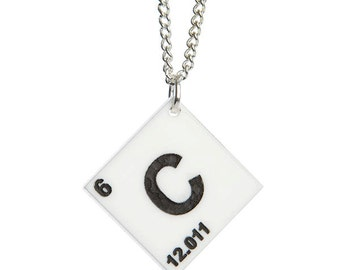 Element necklace  - laser cut acrylic - choose from the periodic table