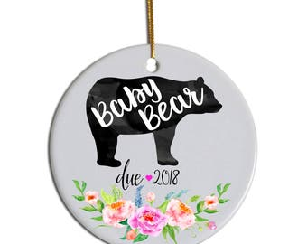 Baby Bear Ornament, New Baby Ornament, Pregnancy Announcement Ornament, Pregnancy Reveal, Baby Ornament, Pregnancy Ornament, Baby Christmas