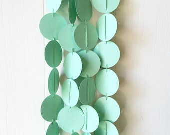 Mint Green Circle Garland / Party Bunting / Nursery Bunting / Dorm Decor / Photo Prop