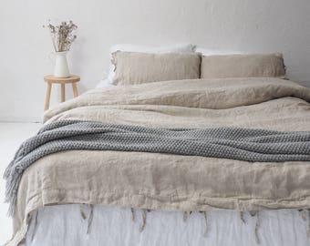 Eco LINEN DUVET COVER, queen size duvet cover, king size duvet cover, custom size.