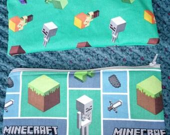 Minecraft Zippered Pouch*