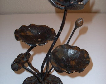 Wildwood Accents Made In Japan Metal Candlestick Holder