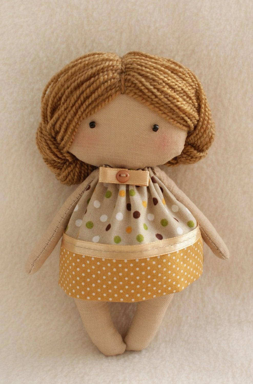 DIY Kit Rag Doll To Sew Easy To Do Olie Primitive Doll