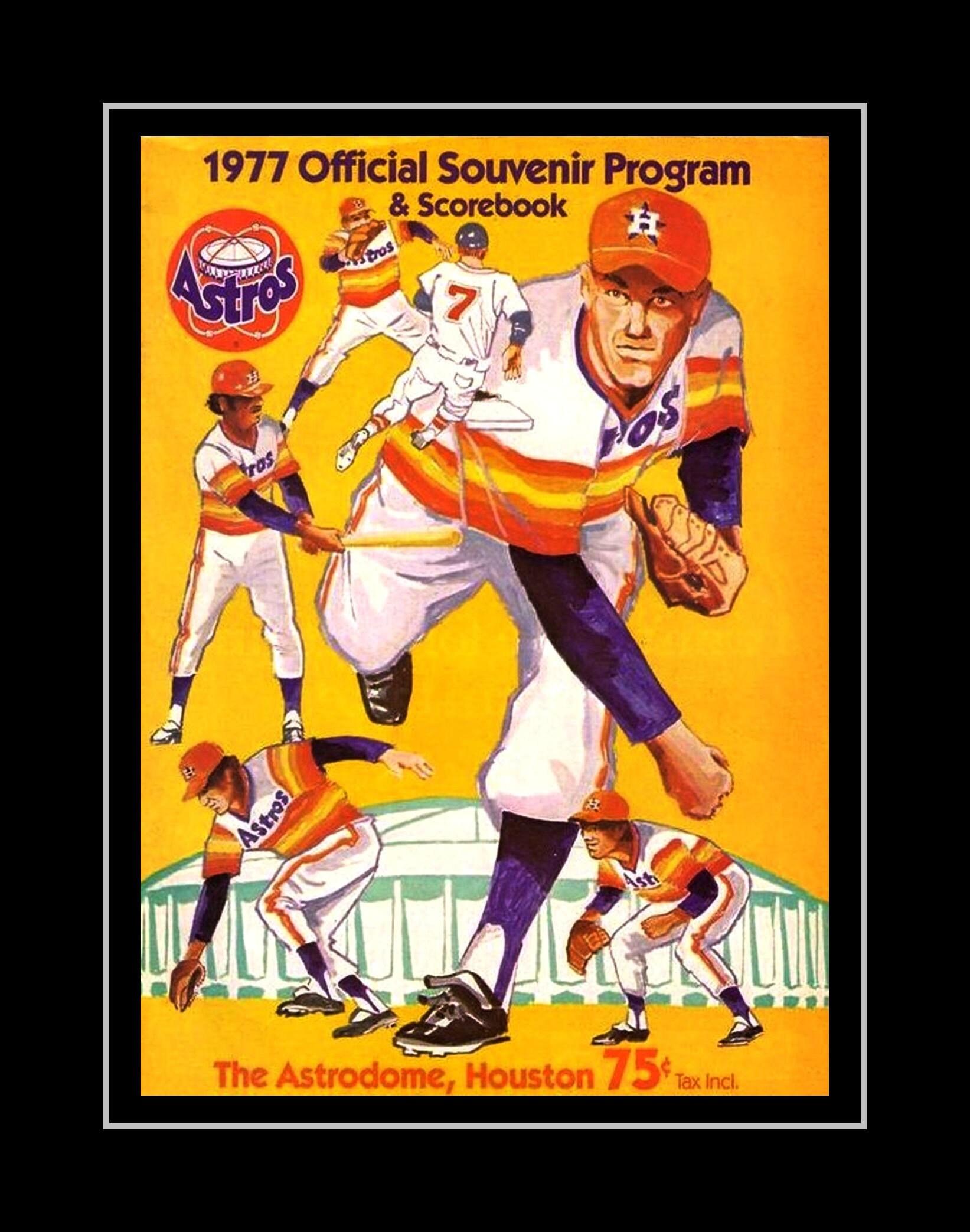 Vintage Nolan Rayn Illustration Poster Fan GIft Astros