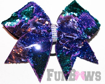 Gorgeous Mermaid Sequin Allstar Cheer bow by FunBows !