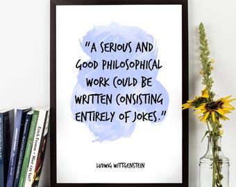 Ludwig Wittgenstein, Ludwig Wittgenstein Quote, Ludwig Wittgenstein Art, Watercolor Quote, Watercolor Art, Philosophy, Philosophical Quote,