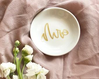 Mrs Engagement  Ring Dish, Engagement Ring Holder, Ring Dish