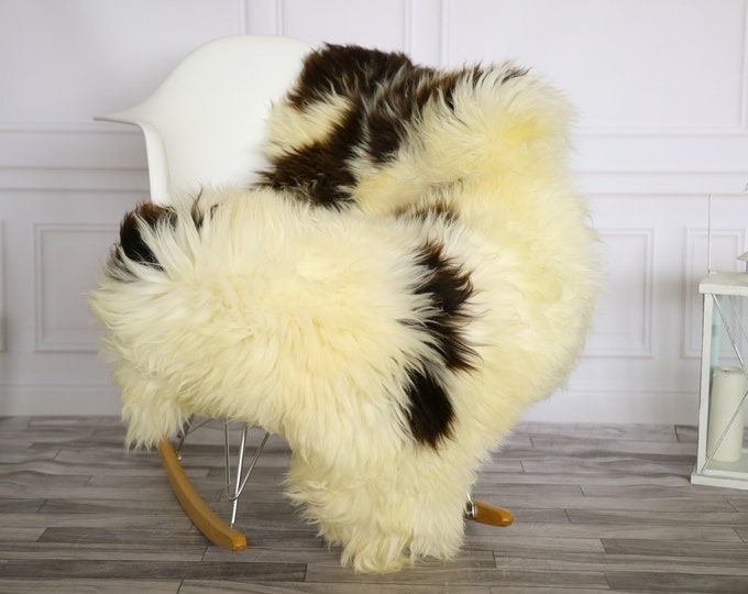 Sheepskin Rug | Real Sheepskin Rug | Shaggy Rug | Chair Cover | Sheepskin Throw | Beige Brown Sheepskin | Home Decor | #Apriher23