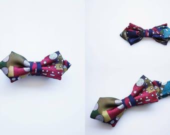High-quality silk bowties with artistic design. Designed by Kiyoshi Yaegashi from Japan.