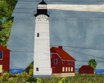 Au Sable Point, MI Lighthouse quilt pattern - ON SALE