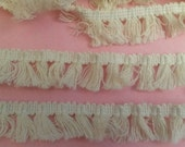5 Yards WHITE Lace Trim White Tassel Fringe Lace Trim, 3/4 Inch Wide, Curtain Pillow Lace Trim