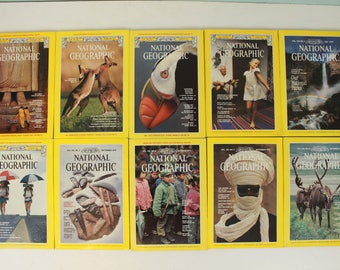 Vintage National Geographic Magazines, 1979, Choice of Magazine