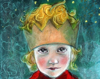ACEO art reproduction by Maria Pace-Wynters- The Little Royal