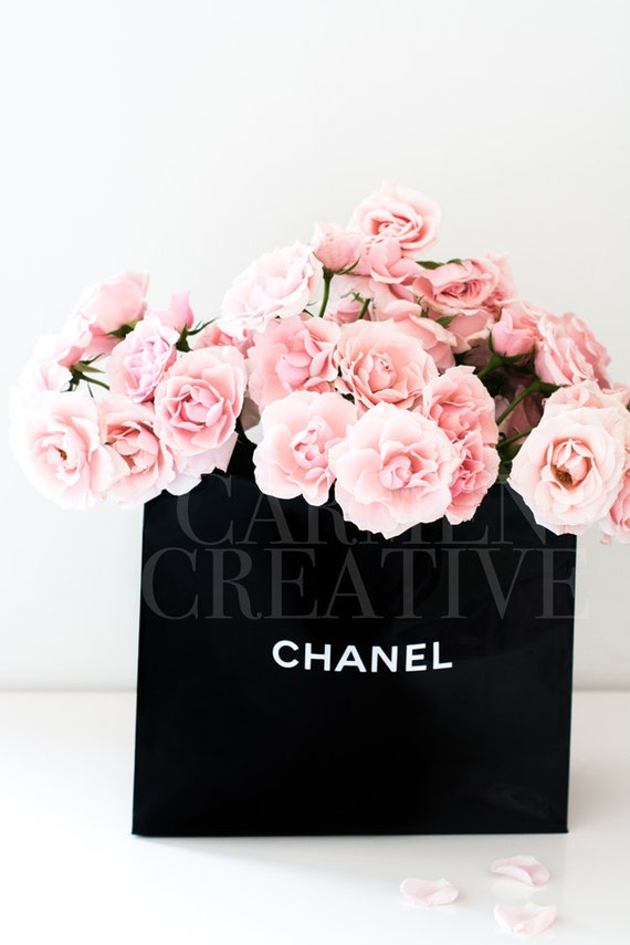chanel bag flowers styled stock photography girl boss stock