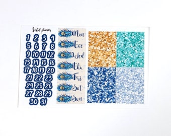 Jeweled Feathers Collection Add On Option: Date Covers and Glitter Headers