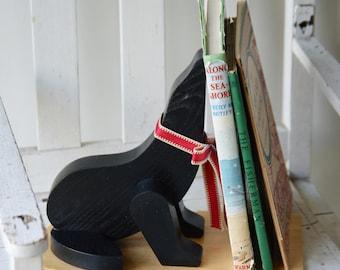 Wooden retro black seal bookend