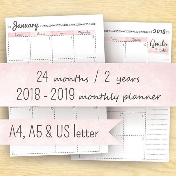 2 Year Calendar Planner Urgup Kapook Co