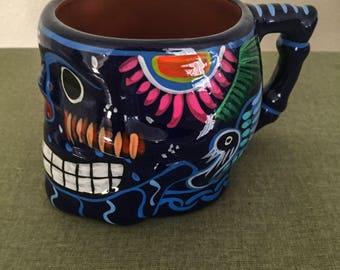 Mexican Sugar Skull Art Coffee Mug