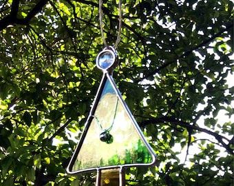 Christmas sphere / decoration for the tree / christmas suncatcher / tree suncatcher / stained glass / suncatcher / hanging decoration