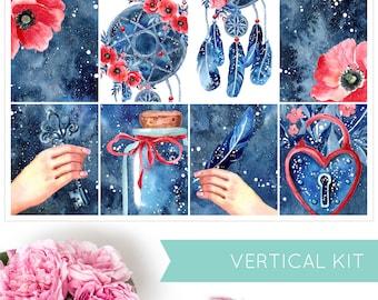 Catch A Dream | VERTICAL KIT | Weekly Kit | Erin Condren | Planner Stickers