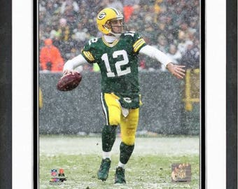 "Aaron Rodgers Green Bay Packers  8x10 Photo Matted & Framed 12.5"" x 15.5"""