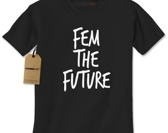 Mens Fem The Future #1213 Womens Feminist The Future Is Female Short Sleeve T-shirt For Him