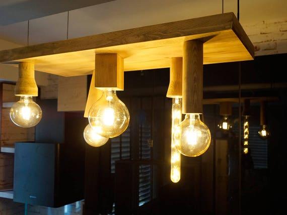 Cinquena wood chandelier handmade chandelier wood pendant aloadofball Gallery