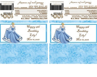 Disney's Cinderella Candybar Wrappers-Check out the matching invitations