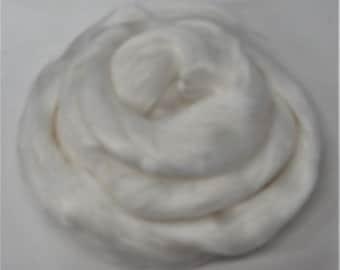 Viscose Fiber for felting ,spinning, paper making and art batts . color: Snow
