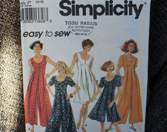 Simplicity 8235 pattern, Misses wide/ Flarred leg jumpsuit in two lenght- 2 patterns available Size 6-10 and Size 12-16