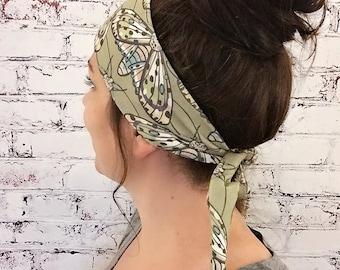 Gypsy Moth - Green - Eco Friendly Yoga Headband