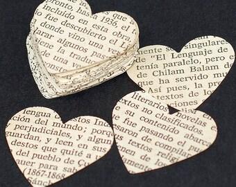 Spanish Paper Hearts- Spanish hearts, Spanish party decorations, Spanish wedding confetti, table confetti, valentine heart craft supplies