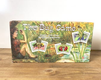 Vintage Kids Game The Bug Game Board Game Insect Education Game Nostalgia 90's Game