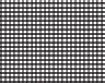Riley Blake Designs, Medium Gingham in Black (C450 110)