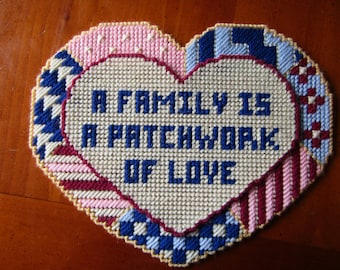 A Family is a Patchwork of Love Wall Hanging