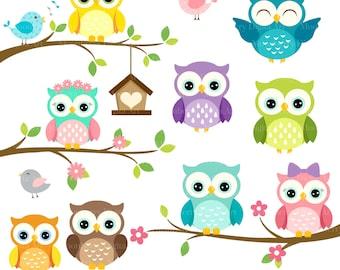 owl clip art etsy rh etsy com clip art owls in winter clip art owls in winter